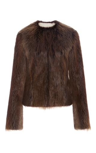 Medium brock brown ferdinand beaver fur jacket