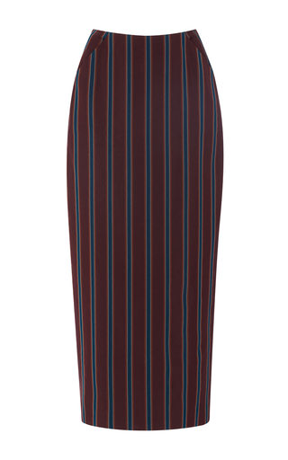 Medium brock stripe snow bibiana stripe pencil skirt