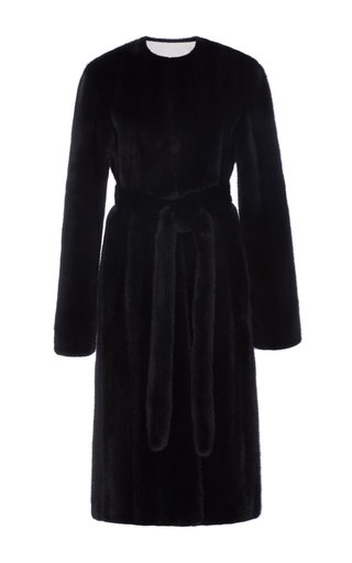 Medium brock navy fifi mink fur coat