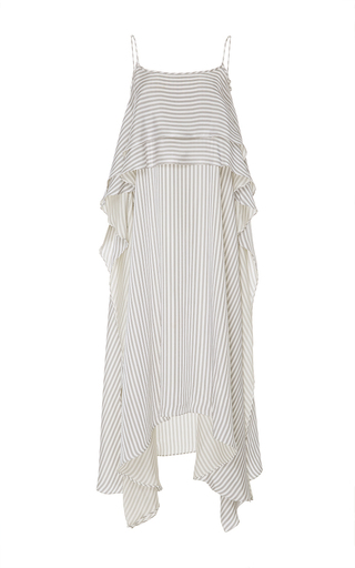 Medium adeam stripe striped tiered flounce dress
