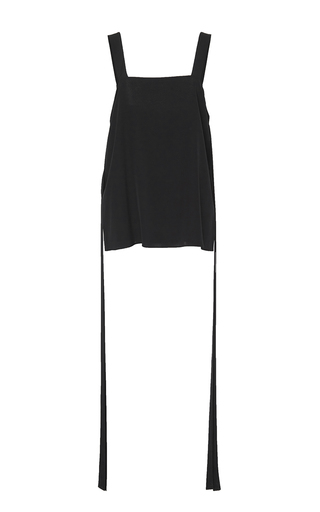 Medium tibi black ribbon detailed tank