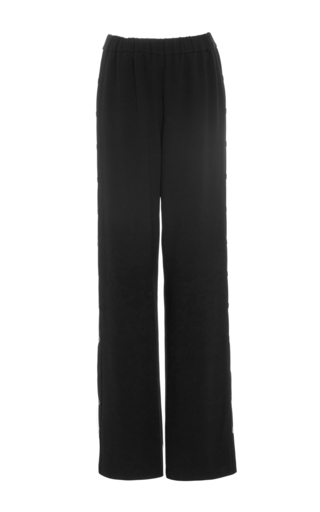 Medium tibi black side snap pants