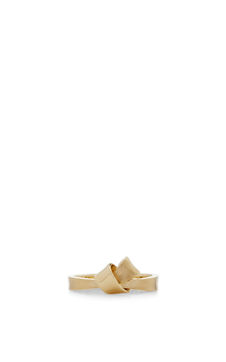 18 K Yellow Gold Knot Ring by CARELLE Now Available on Moda Operandi