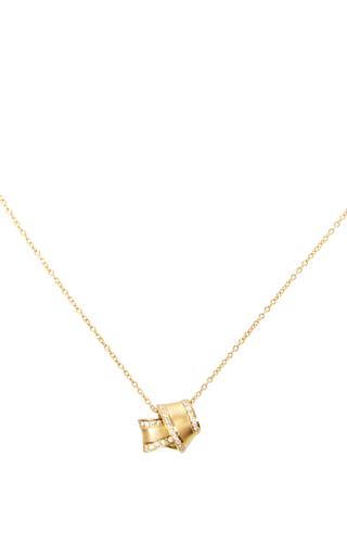 Medium carelle gold 18k yellow gold knot necklace