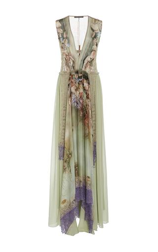 Medium alberta ferretti print v neck chiffon gown