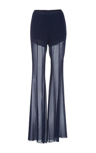Medium alberta ferretti blue flared chiffon pants