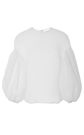 Medium rosie assoulin white puff sleeve top