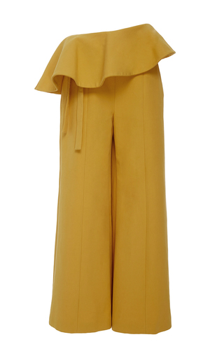 Medium rosie assoulin yellow the bearded iris pant