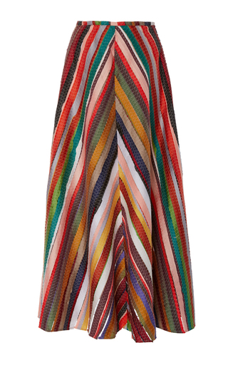 Medium rosie assoulin multi melted rainbows a line skirt