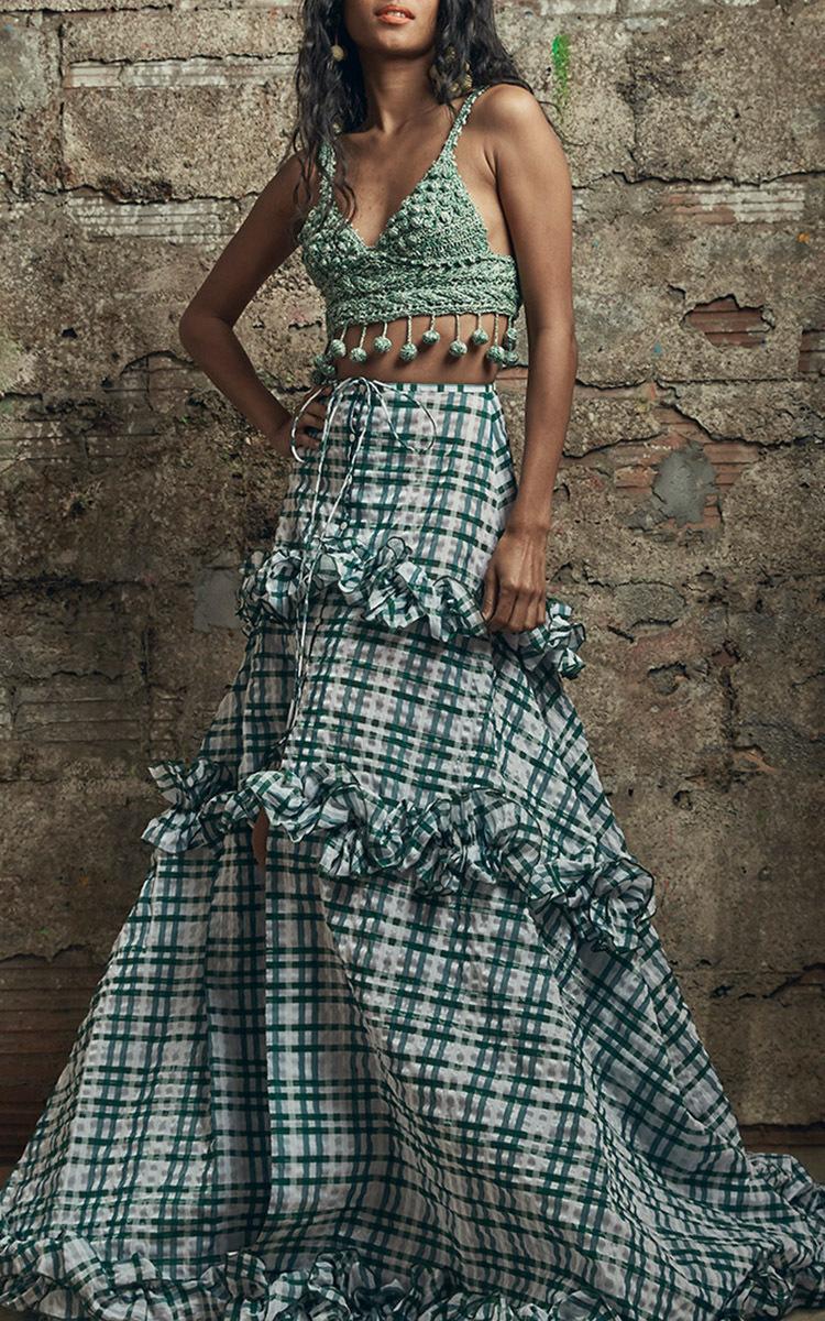 ROSIE ASSOULIN Cottons Carmen Miranda Hand Crochet Top