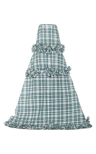 Medium rosie assoulin green twisted ruffle skirt 2