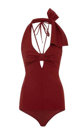 Medium rosie assoulin burgundy esther williams bodysuit