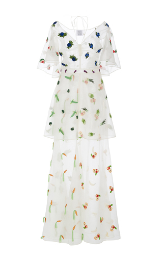 Medium rosie assoulin ivory salad bar gown