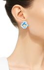Small Pansy Earrings by ALISON LOU Now Available on Moda Operandi