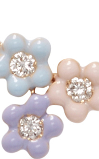 Bouquet Of Daisies Stud Earring by ALISON LOU Now Available on Moda Operandi