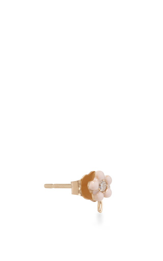 Tiny Flower Stud Earring by ALISON LOU Now Available on Moda Operandi
