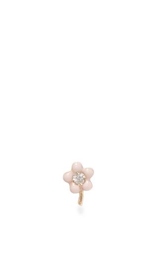 Medium alison lou pink tiny flower stud earring
