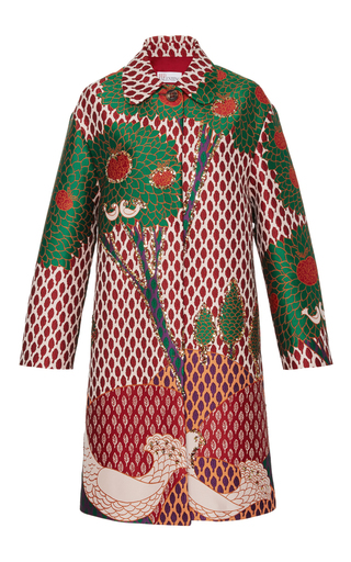 Medium red valentino print embellished coat