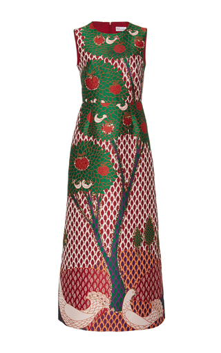 Medium red valentino multi jacquard a line dress