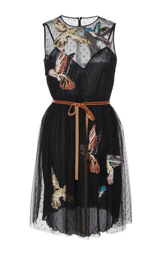 Medium red valentino black sleeveless bird mini dress
