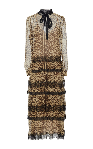 Medium red valentino animal tiered leopard dress