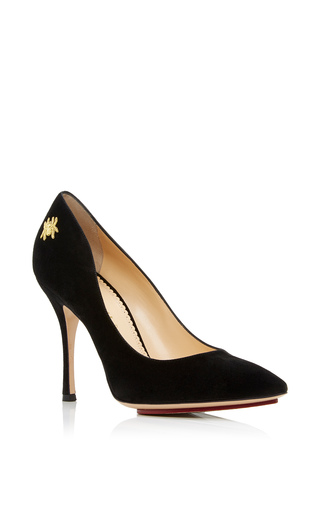 Medium charlotte olympia black bacall court pump