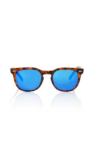 Medium spektre brown memento tortoise frame blue sunglasses