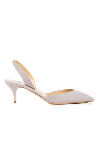 Medium paul andrew light grey rhea slingback pumps