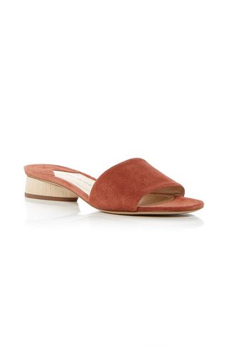 Medium paul andrew brown lina suede slides