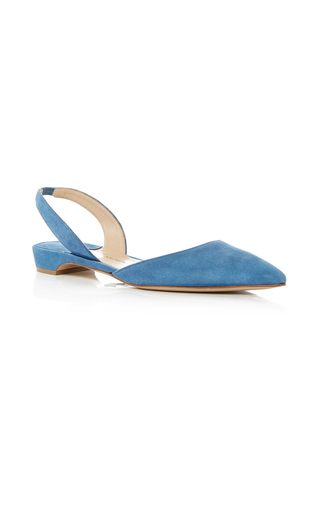 Medium paul andrew blue rhea slingback flats