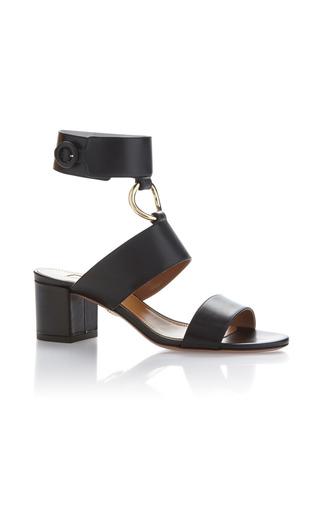 Medium aquazzura black safari leather sandals