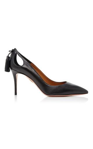 Medium aquazzura black leather forever marilyn pump