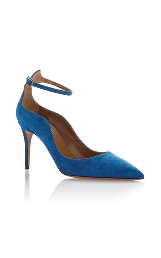 Medium aquazzura royal blue dolce vita pump