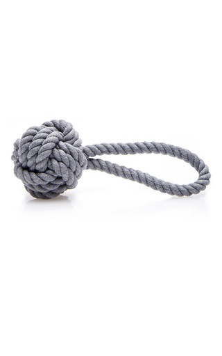 Medium max bone dark grey hobie charcoal rope toy