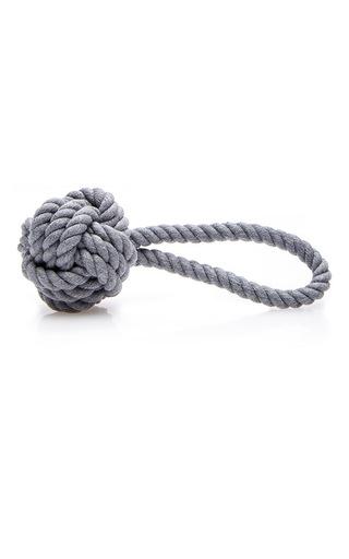 Medium max bone dark grey hobie charcoal rope toy