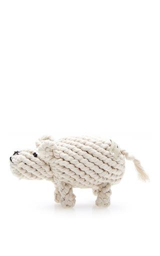 Medium max bone off white dolly rope toy