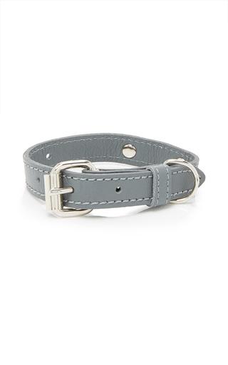 Medium max bone light grey jason dog collar