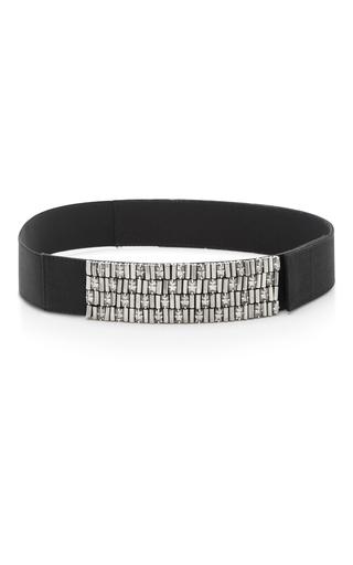 Medium marni black waist belt