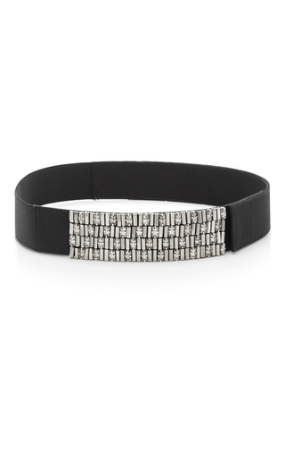 Medium marni black waist belt