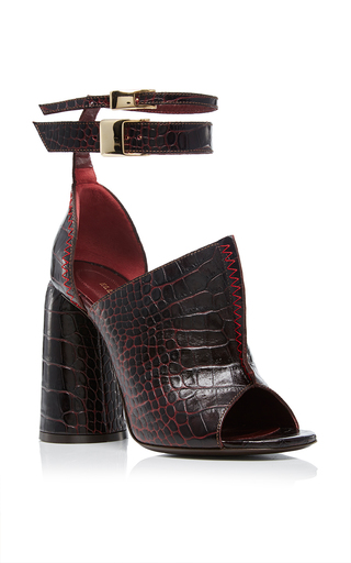 Medium ellery burgundy aztec heel