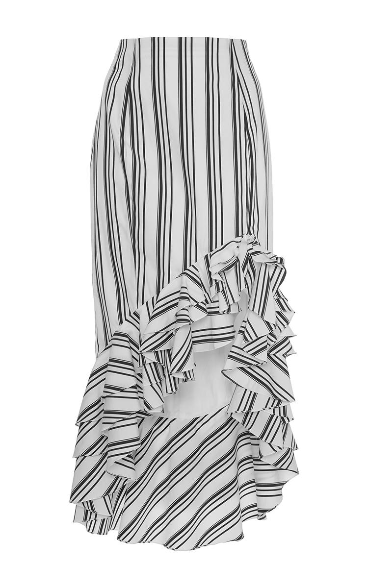 3994cc3f68 Ruffle Asymmetric Pencil Skirt by Caroline Constas | Moda Operandi