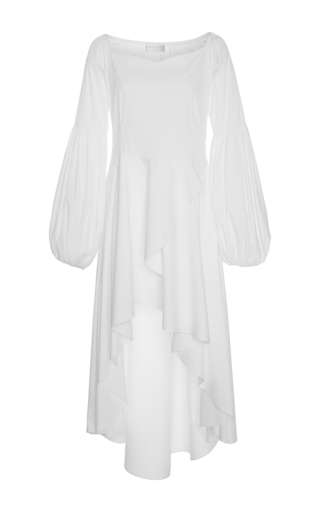 Medium caroline constas white kleo decollete dress
