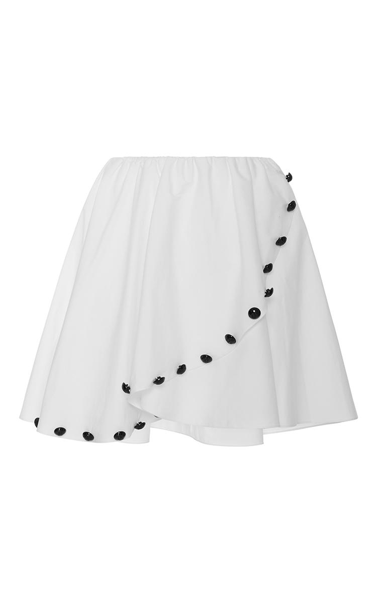 White Embellished Cross Over Skirt