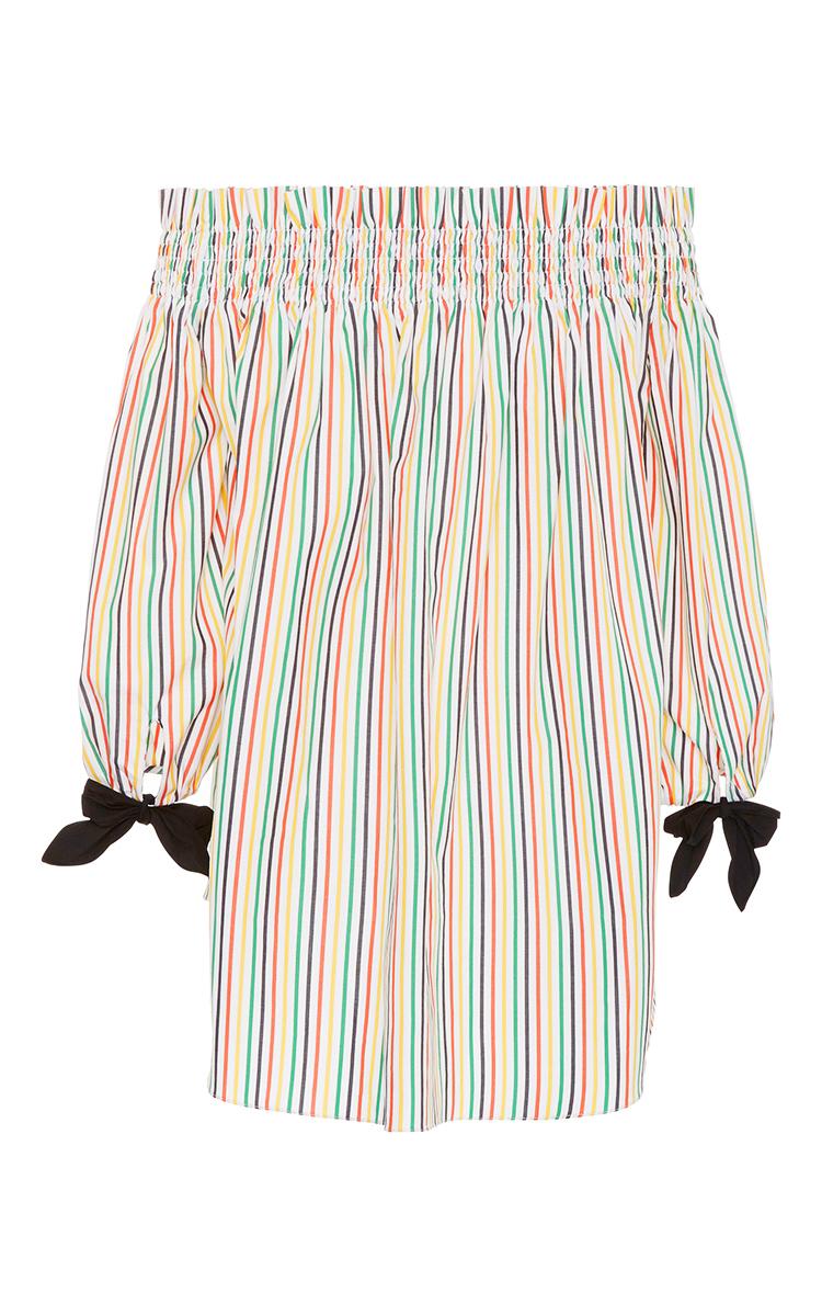 Lou Stripe Balloon Sleeve Top By Caroline Constas Moda