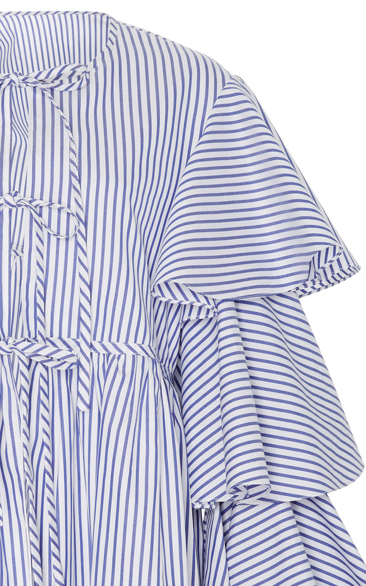 Nina Ruffle Lace Up Jacket By Caroline Constas Moda Operandi