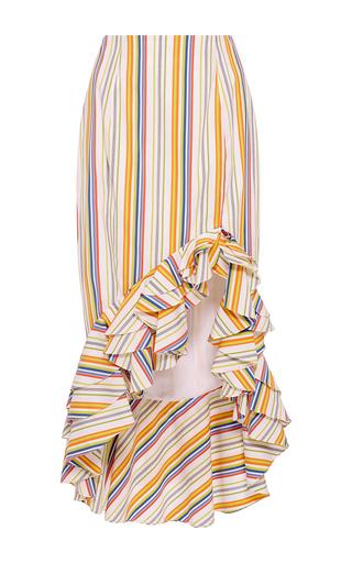 Medium caroline constas stripe striped pencil ruffle skirt