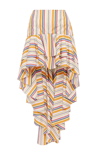Medium caroline constas stripe giulia asymmetric stripe skirt