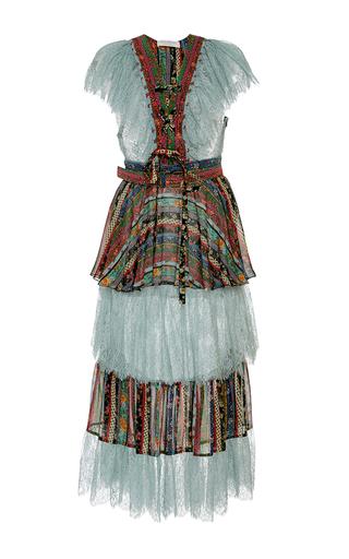 Medium philosophy di lorenzo serafini print tiered printed silk georgette dress