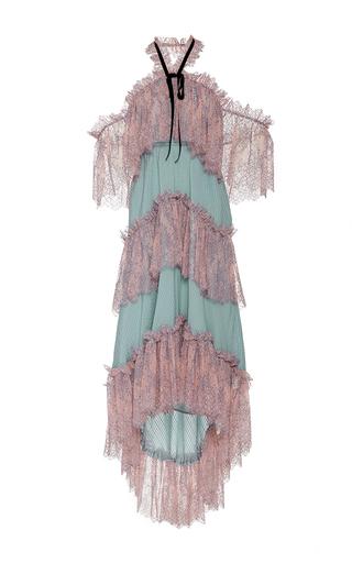 Medium philosophy di lorenzo serafini print off the shoulder tiered silk dress