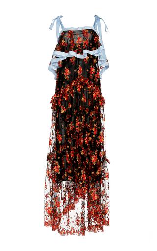 Medium philosophy di lorenzo serafini floral embroidered bi level long tulle dress